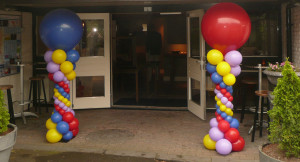 Ballonpilaren van ballonnenhondje