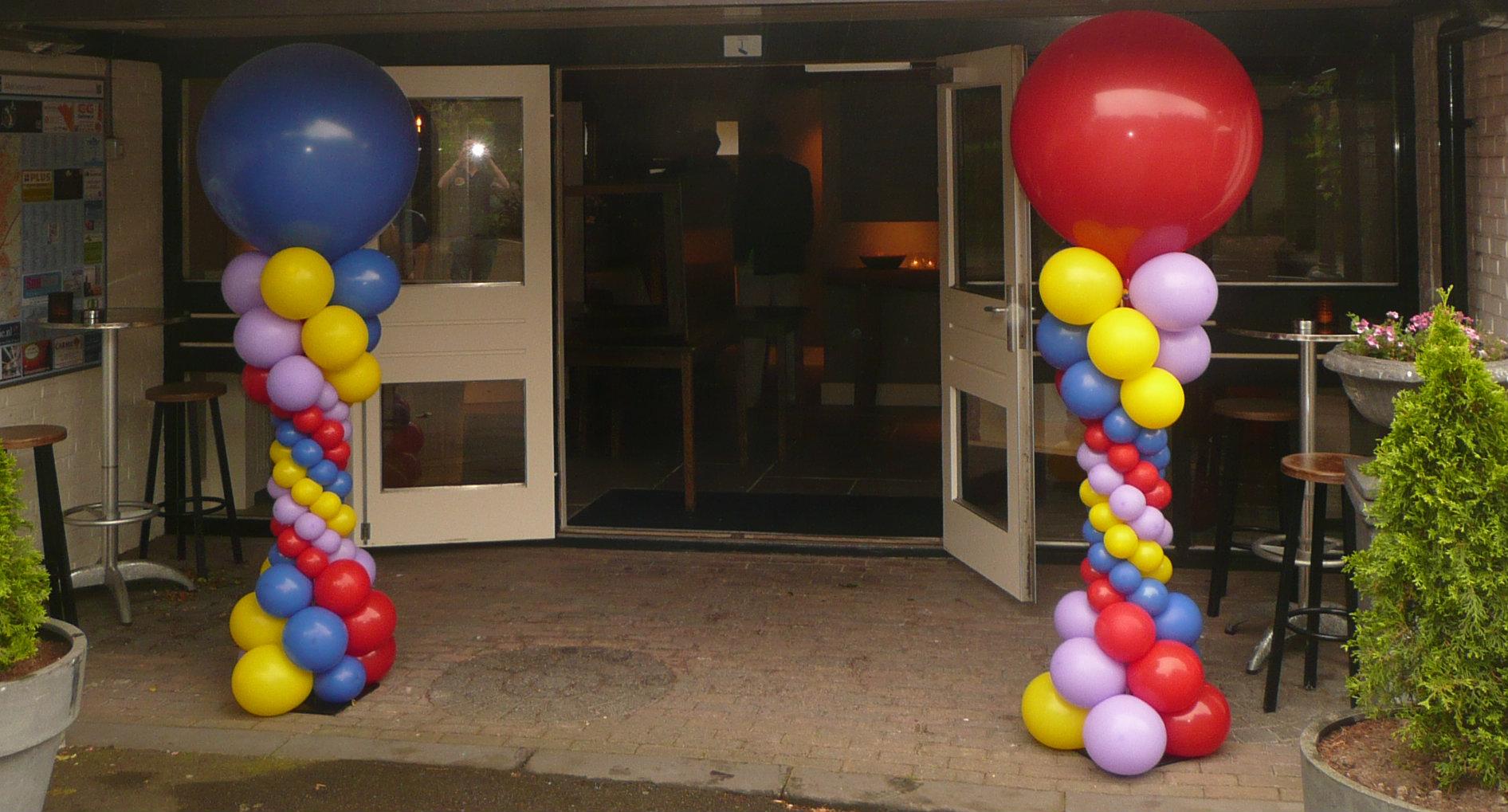 Ballonpilaren en ballonbloemen